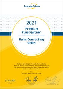 Zertifikat Premium Plus Partner